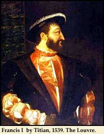Portrait of Francis I by Titian, 1539. Louvre.