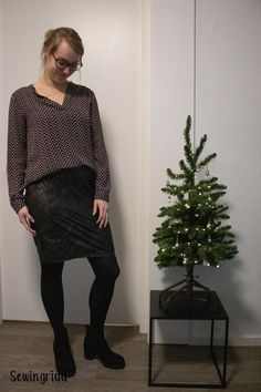 Maak je super simpele (kerst) rok op maat – Sewingridd Free Pattern, Sewing Projects, Formal, Outfits, Style, Fashion, Tricot, Preppy, Swag