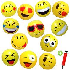 Super cute emoji beach balls. 12 for only $8.95! Free pump!