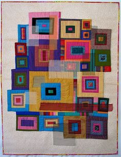 Quilted wall hanging. Contemporary and very cool.