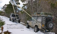 A sneak peek from the Spring issue: A fantastic winter drive across the Pyrenees in two Defenders.