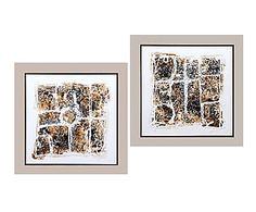Set de 2 cuadros Abstracto - 40x40 cm
