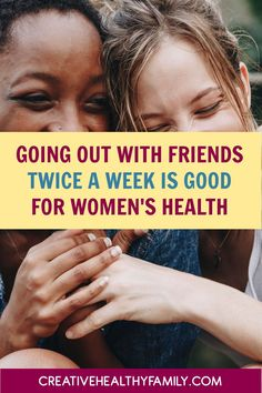 "Women have now found the perfect excuse to go out with the ""girls"" twice a week. According to science, women should go out with friends for better health. Health And Wellness, Health Tips, Mom Hacks, Better Health, Natural Living, Parenting Advice, Kids Meals, Cool Kids, Natural Remedies"