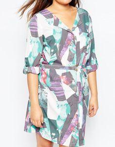 Junarose | Junarose Printed Shirt Dress at ASOS