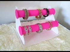 DIY Bracelet Holder   Bangle Stand - YouTube