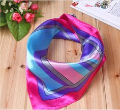 Free shipping Wholesale Small silk scarf stewardess professional etiquette colored scarf printed scarves Handkerchief hotel Cravat