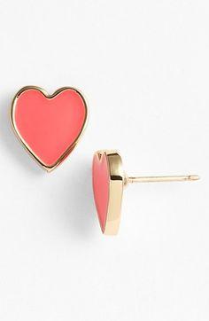 sweet heart studs #katespade