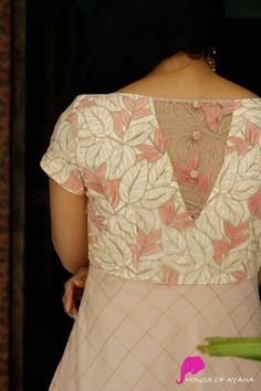 Petal Grove Simple Kurti Designs, Kurta Designs Women, Stylish Blouse Design, Fancy Blouse Designs, Back Neck Designs, Blouse Neck Designs, Kalamkari Dresses, Frocks And Gowns, Kurti Embroidery Design