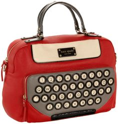 top handle bags: Kate Spade All Typed Up Clyde Satchel,Fire Engine Red,one size Unique Purses, Unique Bags, Novelty Bags, Kelly Bag, Cute Bags, Beautiful Bags, Purses And Handbags, Leather Handbags, Fashion Bags