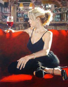 Art by Michael Fitzpatrick Woman Painting, Figure Painting, Fabian Perez, Pulp Fiction Art, Wine Art, In Vino Veritas, Cool Paintings, Pin Up Art, Portrait Art