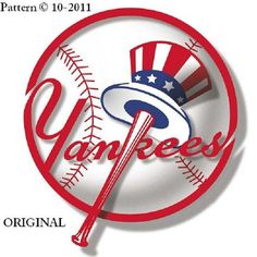 New York Yankees #1... ~Counted~ Cross Stitch Pattern ~Computer Generated~ Baseball BXSS