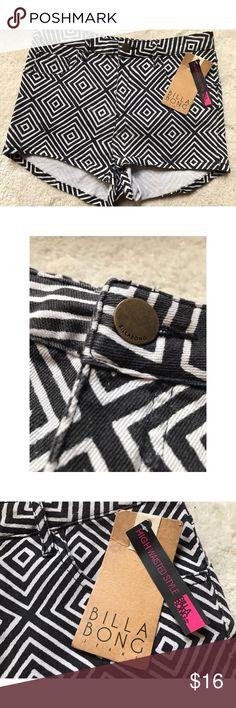 Billabong High Waisted Shorts New with tags. Size 5. Billabong Shorts Jean Shorts
