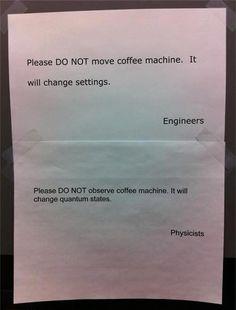 Coffee machine science