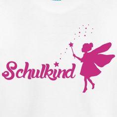 Schulkind - T-Shirt , wunderschönes Motiv für Mädchen. Wähle Farben und T-Shirt und gestalte dein eigenes T-Shirt!