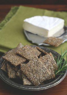 Rosemary Parmesan Chia Seed Crackers
