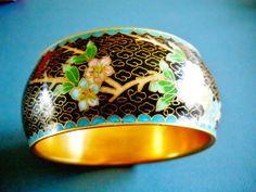 Vintage Bangle Bracelet Chinese Cloisonne by RenaissanceFair