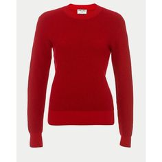 FRAME Waffle Crew Neck Sweater ($275) ❤ liked on Polyvore featuring tops, sweaters, crewneck, knitwear, red, red crew neck sweater, tall tops, waffle sweater, waffle top and waffle knit sweater