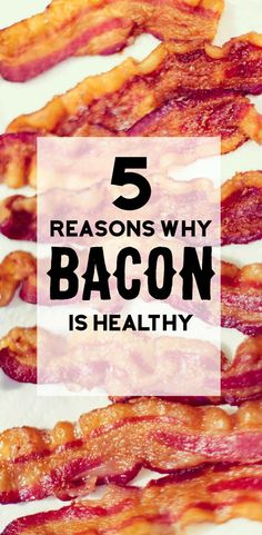 Is bacon good for you? Find out 5 reason why bacon is healthy. You'll be surprised! ~ http://www.baconismagic.ca