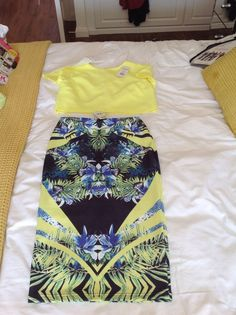 BNWT Miss selfidge co-ord tube skirt & crop Top 10/12