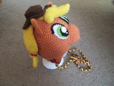Apple JackMy Little PonyCrocheted by NicolesYarnTreasures on Etsy