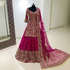 Book ur dress now.Book ur dress now Completely stitched Customised in all colours For booking ur dress plz dm or whatsapp at 9831775535 Pakistani Wedding Dresses, Princess Wedding Dresses, Cheap Wedding Dress, Backless Wedding Dress With Sleeves, Wedding Dress Necklines, Pakistani Bridal Lehenga, Bridal Lehenga Collection, Indian Bridal Outfits, Designer Dresses