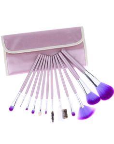12pcs Cepillos profesionales del maquillaje con el bolso gris EUR€20.25