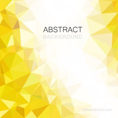 Low Poly Yellow Background Template