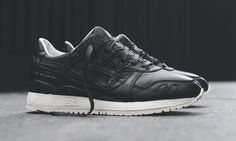 KITH has partnered with ASICS to redesign the Gel Saga and Gel Lyte 3 silhouettes in luxurious black glove leather uppers.