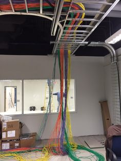 first design and solo implementation of servers and their cabling kvm cabling in our brand new datacenter