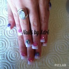 Flared tip acrylic nails