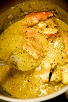 Chef Justine Suntah cooks a seafood feast within sight and sound of the crashing ocean. Try her recipe for King Crab Cape Malay Curry. Curry Crab Recipe, King Crab Recipe, Crab Legs Recipe, Shellfish Recipes, Crab Recipes, Indian Food Recipes, Asian Recipes, Yummy Recipes, Chicken Recipes