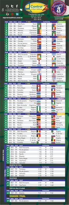 Consulte a tabela da Copa 2014   #TorcidaApaixonante #AssistoJogosEmCasa #CopaEmCasa #TorcidaApaixonada #PraFrenteBrasil #ControlZOfertas