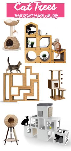Modern cat trees that don't make me cry. | Unique climbing trees for cats that won't clash with your decor. | Modern Cat Supplies that Don't Make Me Cry #cattree