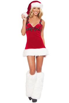 4e658d6e4 Sexy Mini Santa Claus Christmas Costume Dress For Women Red Christmas Sale