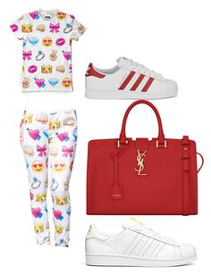 """""""Emojis"""" by ashola18 ❤ liked on Polyvore featuring adidas Originals and Yves Saint Laurent"""