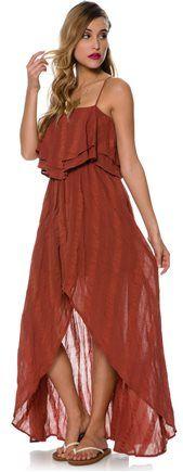 Handkerchief maxi dress. http://www.swell.com/New-Arrivals-Womens/RVCA-LUCK-NOW-MAXI-DRESS?cs=RU