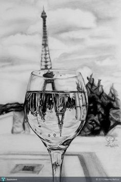 Easy Drawings: 70 Easy and Beautiful Eiffel Tower Drawing and Sketches Art Drawings Beautiful, Amazing Drawings, Amazing Art, Beautiful Sketches, Simple Sketches, Pencil Sketches Easy, Pencil Art Drawings, Art Drawings Sketches, Sketch Drawing