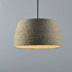 pendant lighting rope shade - Google Search
