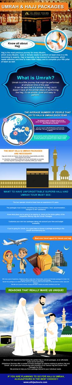 Our Hajj packages offer 27, 21 and 17 days sojourns complete with direct flight, Aziziya accommodations, 5 star hotel stays, transport services, food, coaching and guidance instructors, pre Hajj seminars and medical doctors for consultation. http://www.alhijaztours.com/