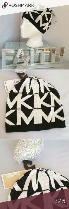 🎄🎁 Michael Kors Beanie NWT 💯Authentic Brand new with tags 100% Authentic  Grab this Michael Kors beanie for your wardrobe!! Classy as can be with oversized MK logos! Colors are white and black. A seasons must have. Make this hat a gift to yourself or someone you love!  🎁Matching scarf is in my closet along with many more MK items!!   💖Shop with confidence💖💖 🎉🎊Suggested User🎊🎉 📮💌Same day shipping📮💌 5🌟🌟🌟🌟🌟 star rated closet 👍👍Top seller👍👍 Beanie,hat Michael Kors…