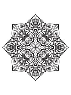 Pattern Coloring Pages, Mandala Coloring Pages, Coloring Book Pages, Mandalas Painting, Mandalas Drawing, Mandala Design, Mandala Art, Zentangle Patterns, Zentangles
