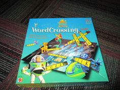 THE WONDERFUL WORLD OF DISNEY WORD CROSSING BOARD GAME BY MATTEL 2000, AGES 5+ #MATTEL