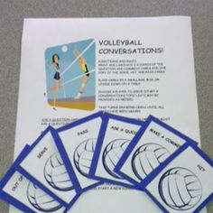 Volleyball Conversations - social language game.