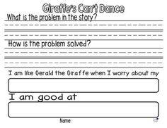Giraffe's Can't Dance Reading Response FREEBIE!
