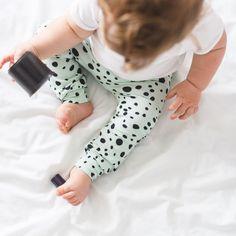 Unisex Mint Dot Baby Leggings