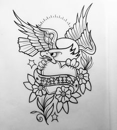 Tradicional Tattoo Sketches, Tattoo Drawings, Tattoo Studio, Pirate Ship Tattoos, Tatuaje Old School, Old School Tattoo Designs, Angel Tattoo Designs, Eagle Tattoos, Tattoo Flash Art