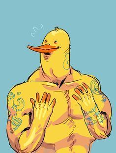 lil chicken dude 4 garikaliev b/c he drew me lots of cool stuff !!! also b/c i wanted to draw this character. also idk how to draw muscles sorry