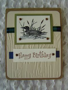 A manly card    loon birthday card by JDooreCreations on Etsy, $3.75