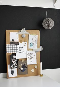 clipboard moodboard DIY by AMM blog