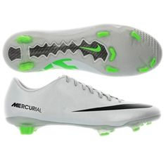 official photos d9ddc 76631 Nike Mercurial Veloce FG Soccer Cleats (Metallic Platinum Electric  Green Black). Soccer StoreSoccer CleatsSoccer ShoesFootball ...